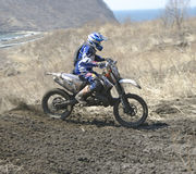 Motocross bike in a race Royalty Free Stock Photo