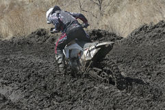Motocross bike in a race Royalty Free Stock Photos