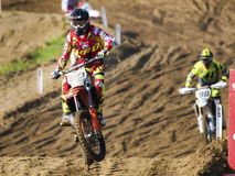 Motocross bike rider jump during the italian MXGP World Championship 2017 Stock Photography