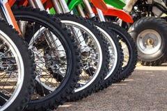 Motocross bike in row Royalty Free Stock Image