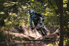 Motocross biker Royalty Free Stock Images
