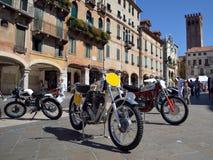 Motocross bikes in Bassano del Grappa stock photos