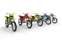 Motocross bikes. Isolated on white background Stock Image