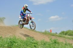 Motocross challenge Royalty Free Stock Image
