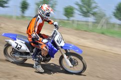 Motocross challenge. Rider skill in motocross challenge Royalty Free Stock Photos