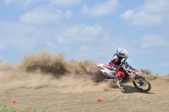 Motocross challenge. Rider skill in motocross challenge Royalty Free Stock Images