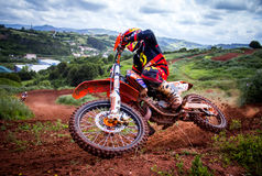 Motocross Championship. GIJON, SPAIN - MAY May 2014: Participants in the MX State  Championship held in the city of Gijon, Spain, on Saturday, May 24, 2014 Stock Photography