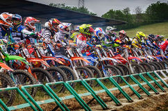 Motocross chez Cavallara Photo stock