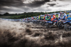 Motocross chez Cavallara Image stock