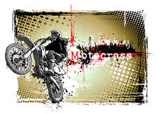 Motocross in the city Stock Photography