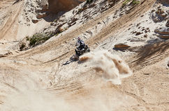 Motocross club workout. Lithuania-city Radviliskis, May 24.2015.Moto club workout sunny spring weekend, sand quarries Royalty Free Stock Photos
