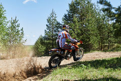 Motocross club workout. Lithuania-city Radviliskis, May 24.2015.Moto club workout sunny spring weekend, sand quarries Stock Photo
