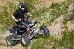 Motocross club workout. Lithuania-city Radviliskis, May 24.2015.Moto club workout sunny spring weekend, sand quarries Stock Photography