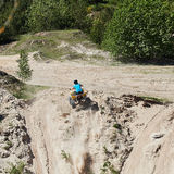 Motocross club workout. Lithuania-city Radviliskis, May 24.2015.Moto club workout sunny spring weekend, sand quarries Royalty Free Stock Images