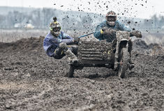 Motocross compertitions. Royalty Free Stock Photos