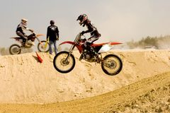 Motocross Competition Royalty Free Stock Image