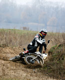 Motocross competition. Royalty Free Stock Image