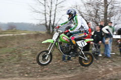 Motocross competition. Royalty Free Stock Photos