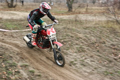 Motocross competition. Royalty Free Stock Images