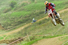 Motocross competition Royalty Free Stock Photos
