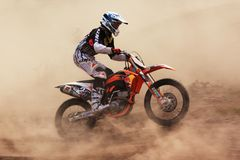 Motocross competition Royalty Free Stock Images