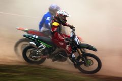 Motocross competition Stock Image