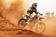 Motocross competition stock photo