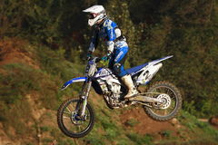 Motocross competition. Catalan Motocross Race League. Royalty Free Stock Images