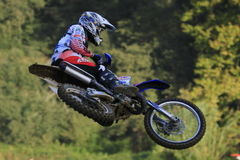 Motocross competition. Catalan Motocross Race League. Royalty Free Stock Photos