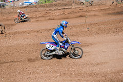 Motocross competition Stock Images