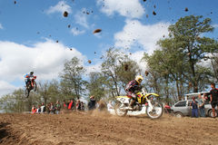 Motocross competiton Stock Photo