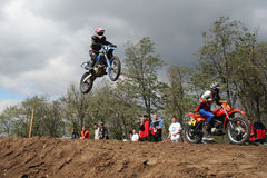 Motocross contest Royalty Free Stock Photos
