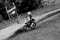 Motocross curve speeding Royalty Free Stock Photo