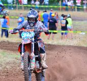 Motocross dans Sariego, Espagne Images stock