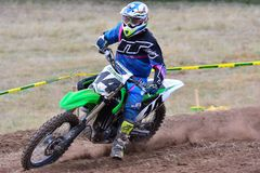 Motocross dans Sariego, Espagne Photo libre de droits
