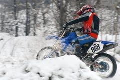 Motocross de l'hiver Photographie stock