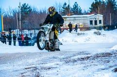 Motocross in de winter Stock Afbeelding