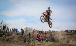 Motocross in der Republik von Khakassia 031 stockbilder