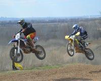 Motocross: der Wunsch zu gewinnen stockfotografie