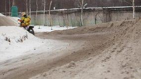 Motocross di inverno video d archivio