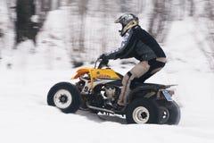 Motocross di inverno Immagini Stock