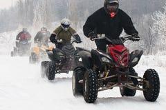 Motocross di inverno Fotografia Stock
