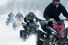Motocross di inverno Immagini Stock Libere da Diritti