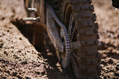 Motocross dirt background Royalty Free Stock Photo