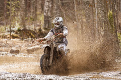 Motocross Dirt Driver Stock Photo