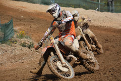 Motocross dirtbikes Stock Images