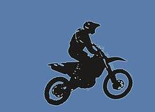 Motocross doskakiwanie Zdjęcia Stock