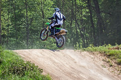 Motocross Driver. Image of a Motocross Driver in action Stock Photos
