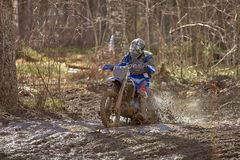 Motocross driver Stock Photography