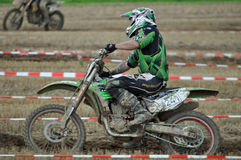 Motocross driver Royalty Free Stock Photos